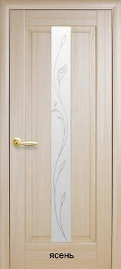 "Двери Премьера стекло с рисунком Р2 пвх ""De Luxe"""