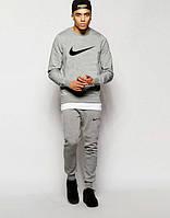 Мужской серый спортивный костюм принт Nike | найк галочка