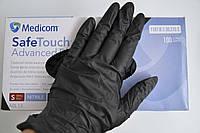 """Перчатки нитриловые текстурированные """"Safe-Touch"""" 1187-D р.L 100шт Черные"""