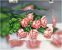 """Схема для вышивки бисером """"Розы"""", на холсте А3"""