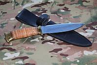 Нож охотничий  с фиксированным клинком Фокс-1,рукоять береста сталь  95Х18