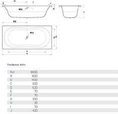 Ванна стальная BLB Duo Comfort B80D 180x80, фото 3