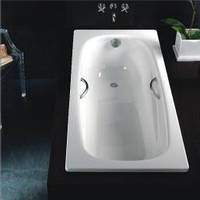 Ванна сталева ESTAP Lux B75L 170x75 з алюмінієвими ручками
