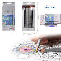 "Набор цветных карандашей ""MARCO"" 24 цвета № 7100-24"