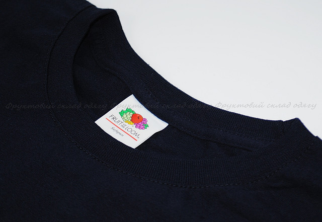 Глубоко тёмно-синяя  мужская мягкая футболка