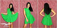 Женское платье клеш с поясом
