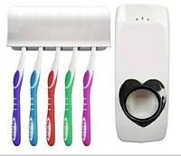 Автоматический дозатор зубной пасты и держатель для щеток