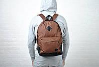 Коричневый городской повседневный рюкзак (Lee), реплика
