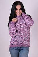 Женский  свитер под горло вязка