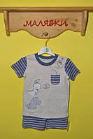"""Комплект для мальчика """"Динозаврики"""" (80 размер)"""