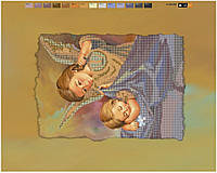 """Схема для вышивки бисером """"Ангел"""", на холсте А3"""