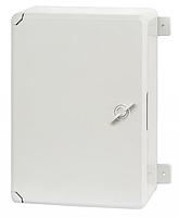Пластиковый щит щиток с монтажной панелью IP65 влагозащищенный 200х300х130 непрозрачная дверца цена купить