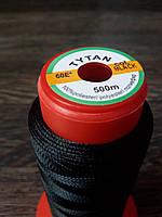 Нитка швейная TYTAN N60 Black цвет черный 500м. Турция