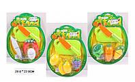 Игровой набор разрезных фруктов и овощей. Разрезные муляжи овощей и фруктов.