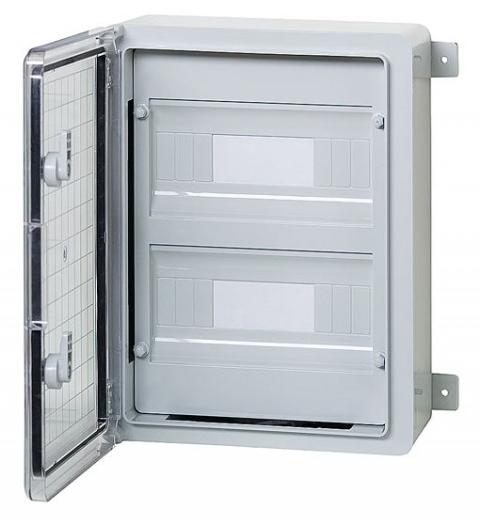 Пластиковый  щиток на 18 модулей IP65 влагозащищенный 250х350х150 непрозрачная дверца