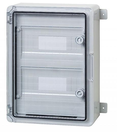 Пластиковый щит  на 18 модулей IP65 влагозащищенный 250х350х150 прозрачная дверца