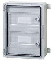 Пластиковый щит щиток на 18 модулей IP65 влагозащищенный 250х350х150 прозрачная дверца цена купить