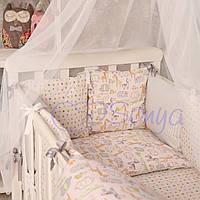 Набор в детскую кроватку Baby Design zoo (7 предметов)