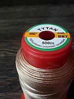 Нитка швейная TYTAN N40 887 цвет бежевый 500м. Турция