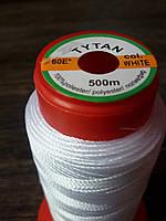Нитка швейная TYTAN N60 White цвет белый 500м. Турция