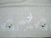 """Доріжка з вишивкою """"Степова птаха"""" сіра(40*140 см.)"""