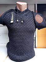Мужской молодежный приталенный свитер зима 46-48 рр