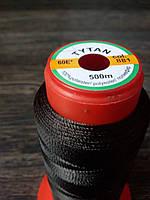 Нитка швейная TYTAN N60 881 цвет коричневый 500м. Турция