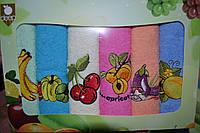 Набор махровых кухонных полотенец Deep (6шт.) 50х30 - Турция
