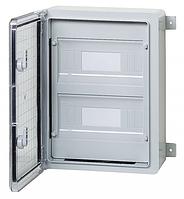 Пластиковый щит на 24 модуля влагозащищенный щиток IP65 300х400х170 прозрачная дверца цена купить