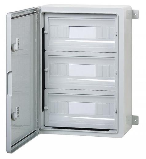 Пластиковый щиток на 45 модулей влагозащищенный щит IP65 350х500х190 непрозрачная дверца