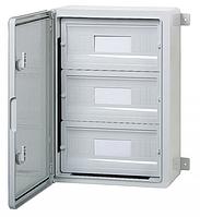 Пластиковый щиток на 45 модулей влагозащищенный щит IP65 350х500х190 непрозрачная дверца цена купить
