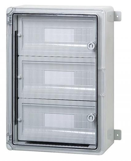 Пластиковый щиток на 45 модулей влагозащищенный  IP65 350х500х190 прозрачная дверца