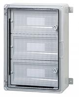 Пластиковый щиток на 45 модулей влагозащищенный щит IP65 350х500х190 прозрачная дверца цена купить