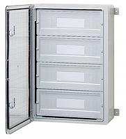 Пластиковый щит на 60 модулей автоматов IP44 влагозащищенный щит 400х600х200 непрозрачная дверца цена купить
