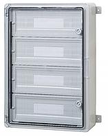 Пластиковый щит на 60 модулей автоматов IP65 влагозащищенный щит 400х600х200 прозрачная дверца цена купить