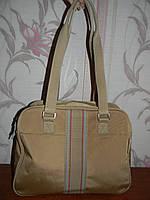 Вместительная тканевая сумка Fossil. Можно в дорогу