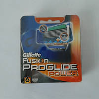 Кассеты для бритья Gillette Fusion Proglide Power 6 шт. ( Картриджи Жиллет Фюжин проглейд повер оригинал), фото 1