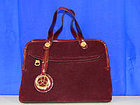 Класическая  сумка Fashion замшевая бордовая