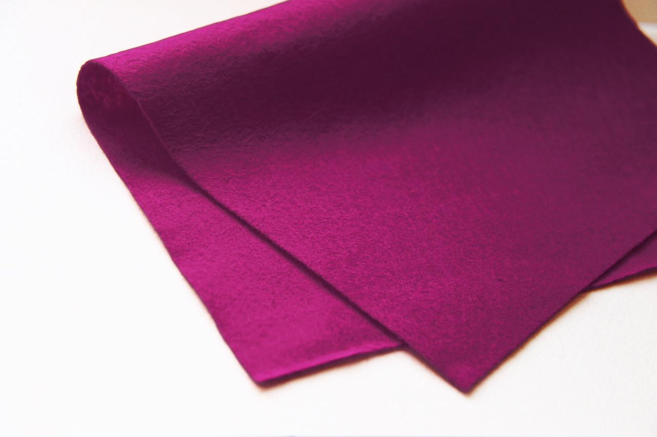 Фетр листовой 20*30см, мягкий (1,5мм толщина), HEYDA (Германия)100% вискоза, фиолет
