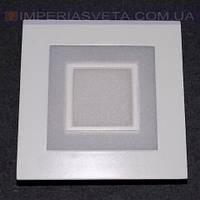 Светодиодный LED светильник панель 6W сверхтонкий квадрат RGB встраиваемый KODE:526546