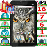 3 G Планшет 3 в 1 LENOVO Tab 7 Смартфон GPS Навигатор 2 сим 6 ядер 2 sim Ram 1 Gb Flash 16 Gb Android 5 1