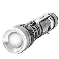 Фонарь ручной светодиодный E-SMART B3XPE (Черный) походный туристический яркий такитический от аккумулятора