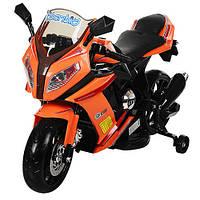 Детский мотоцикл M 2769 EL-7 BMW Sport Style, кожа, оранжевый***
