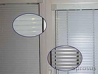 Горизонтальные жалюзи алюминиевые 25 мм со смещенной пробивкой (белые)