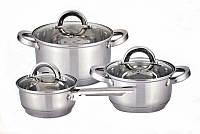 Набор посуды Vincent VC 3028 из нержавеющей стали, 6 предметов