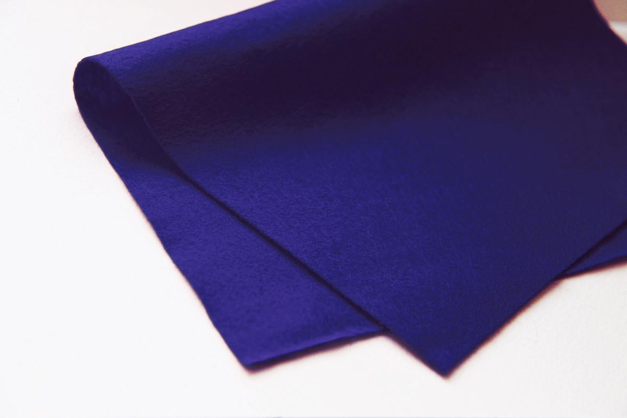 Фетр листовой 20*30см, мягкий (1,5мм толщина), HEYDA (Германия)100% вискоза, темный синий