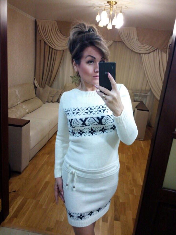 женское вязаное платье снежинки цена 329 грн купить в одессе