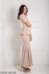 Женское платье Подіум Amalia 20930-BEIGE XS Бежевый