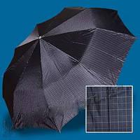Зонт мужской Zest 13943-2. Полный автомат. Клетка синяя., фото 1