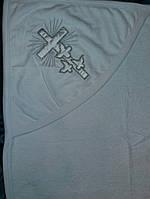 Крыжма белая - махровое полотенце для крещения с уголком